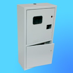 Щиток навесной под 3-х ф.индукционный счётчикЩРУ-3Н27замок+окно,2 дв.(670х350х165)