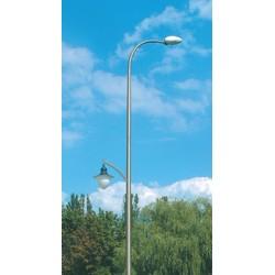 Уличные фонари. Опора освещения алюминиевая конусная дугообразная 2-элементная 9 м