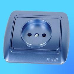 "Розетка 1 СП ""Tuna"" синий металлик, с декор.вставкой 5021212215 (El-Bi)"