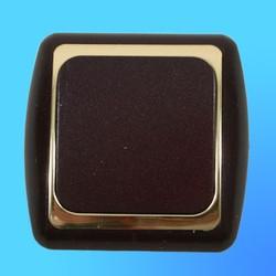 Выключатель 1 СП С16-002 АБС метал,.бордо./зол. рамка (Ростов)