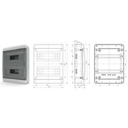 BNK40-24-1 - щит навесной пластиковый на 24 модуля IP40 (ТЕКФОР) от 854 руб. до 732 руб