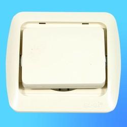 """Выключатель 1 СП """"Tuna"""" крем, без декор.вставки 5020300200 (El-Bi)"""