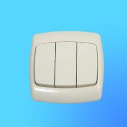 """Выключатель 3 СП ВС05У-321 слоновая кость, 10 """"А"""", """"Рондо"""" (Wessen)"""