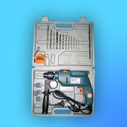 """Дрель ударная """"Bort"""" BSM-650-К № 28103005 (рулетка 2м +свёрла, фрезы) кейс"""
