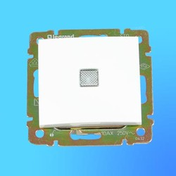 """Выключатель 1 СП """"Valena"""" со световым индикатором без рамки  белый 774410(Legrand)"""