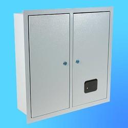 Щиток встроенный под 3-х ф.индукционный счётчик ЩРУ-3В30 замок+окно1-дв. (500х400х165)