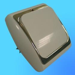 Выключатель 2 СП С56-003 АБС бел./бел. рамка со световым индикатором (Ростов)
