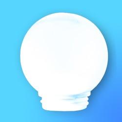 Плафон-шар к свет.РПА-75-001 D=150мм (НББ,НСП,НПБ,НСБ,НБО) пласт.ударостойкий (белый)