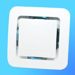 """Выключатель 1 СП """"Lillium"""" белый, без декор.вставки  71001 (Makel)"""