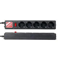 SPG-B-15-BLACK Сетевой фильтр Power Cube B 5 метров 5 розеток черный 30шт./уп.