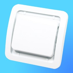 """Выключатель 1 СП """"Мимоза"""" белый, без декор.вставки  22001 (Makel)"""