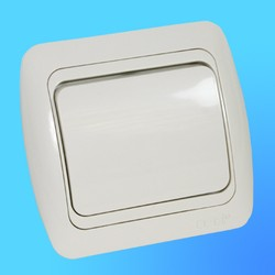 """Выключатель 1 СП """"Tuna"""" крем , со вставкой, 5020303200 (El-Bi)"""