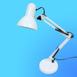 Светильник настольный Camelion KD-313, Е27, белый, тип лампы - 60Вт, на подставке.