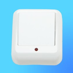 """Выключатель 1 ОП ВА1У-111, белый, со световым индикатором, 10 """"А"""", """"Прима"""" (Wessen)"""