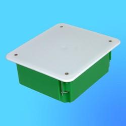 Коробка разветвит. КР1204 для полых стен прямоуг. с крышкой 140х160х70 мм метал.лапки(HEGEL)