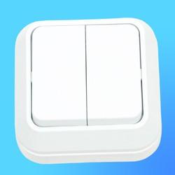 Выключатель 2 ОП  белый 45103 (Makel)