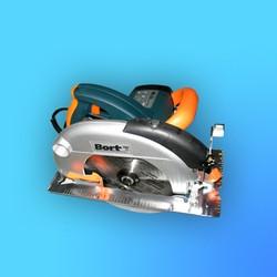 "Пила циркулярная ""Bort"" BHK-210 с лазерной направляющей № 28106005 (1800Вт 4500об) диск,компл. щёток"