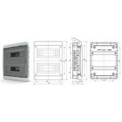 BVK40-24-1  - щит встраиваемый пластиковый на 24 модуля IP40  (ТЕКФОР) от 834 руб. до 715 руб