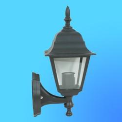 Светильник садово-парковый 4201 четырехгр. конструкция, 60Вт Е27 IP33 350х185 (металл+стекло) черный