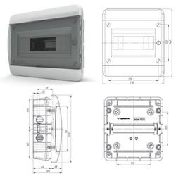BVK40-08-1  - щит встраиваемый пластиковый на 8 модулей IP40 (ТЕКФОР) от 425 руб. до 364 руб