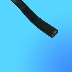 Кабель ВВГ 3*1,5 силовой, чёрный, с медными жилами,  для стационарной прокладки, плоский на 660 В