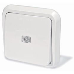 Выключатель с дистанционным и ручным управлением, скрытой установки, работает от любого пульта, цвет белый