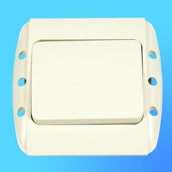 """Выключатель 1 СП """"Zirve"""" крем, без бок.декор.вставок 5010300200 (El-Bi)"""