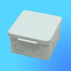 Коробка эл. монтажная ОП С3В80-002 пласт. 80*80*55 без отверстий с 3 муфтами (GUSI)