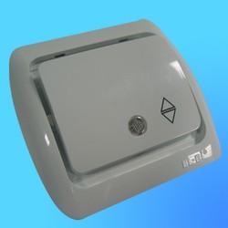 """Выключатель проходной 1 СП """"Tuna"""" белый, без декор.вставки, со свет. инд.5020200210 (El-Bi)"""