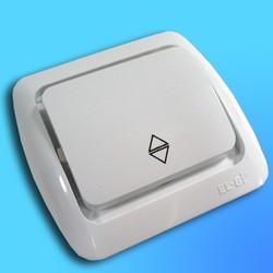 """Выключатель проходной 1 СП """"Tuna"""" белый, без декор.вставки 5020200209 (El-Bi)"""