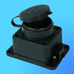 Розетка настенная каучук 2Р+Е 1*16А 220-240В 31.01.306.0300(Т-Пласт)IP44