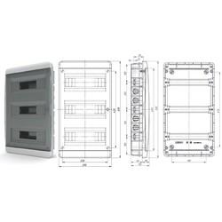 BVK40-36-1 - щит встраиваемый пластиковый на 36 модуля IP40  (ТЕКФОР) от 1.094 руб. до 938 руб