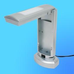 Светильник настольный Camelion KD-007, G23, серебро, тип лампы-энергосберегающая 9Вт, складной