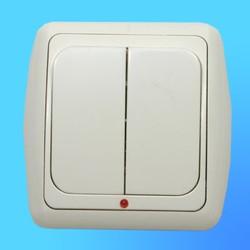 Выключатель 2 СП С56-003 АБС беж./беж.рамка со световым индикатором (Ростов)