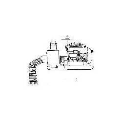 Насос АНС-130Д с дизельным двигателем 9л.с.