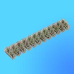 Колодка клеммная 4 мм.кв. 3 А-H основание квадратное (полоска 12 клемм)