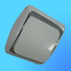 Выключатель 1 СП С16-002 АБС бел/серебр. рамка (Ростов)