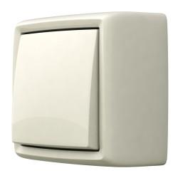 Выключатель-переключатель (коридорный) открытой установки, цвет белый