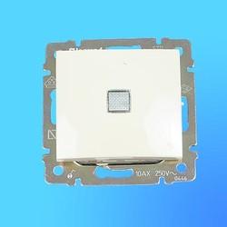 """Выключатель 1 СП """"Valena"""" со световым индикатором  без рамки сл.кость 774310 (Legrand)"""