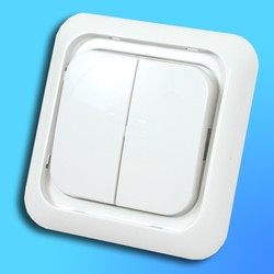 "Выключатель 2 СП ""Жасмин"" белый, без декор.вставки 90552002 (Vi-Ko)"