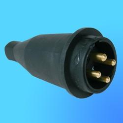 Вилка прямая каучук 3Р+Е 3*16А 380-415V 31.02.301.0300(Т-Пласт)IP44