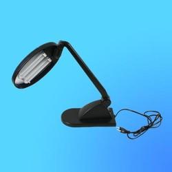 Светильник настольный Camelion KD-021, G23, черный, тип лампы - энергосберегающая 2х9Вт, складной