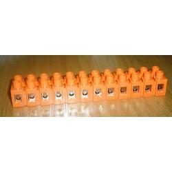 Клемные колодки с подпружиненным контактом 12 пар  0,5-6кв.