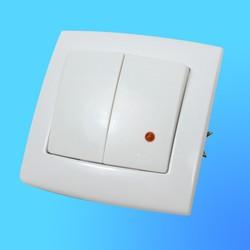 """Выключатель 2 СП С56-181 АБС """"Елизавета"""", со свет.индикатором (Кунцево Электро)"""