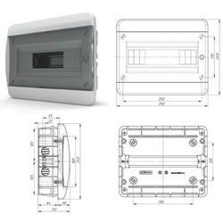 BVK40-12-1 - щит встраиваемый пластиковый на 12 модулей IP40 (ТЕКФОР) от 493 руб. до 439 руб