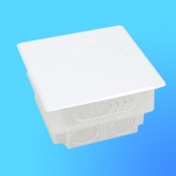 Коробка эл.монтажная СП КМ-202 квадрат.пласт.с крышкой 86*86*50,7(Мин)