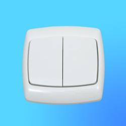 """Выключатель 2 СП С56-052 белый, """"Рондо"""" (Wessen)"""