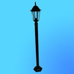 Светильник садово-парковый 6101 шестигр. конструкция, 100Вт Е27 IP33 1500 мм (металл+стекло) черный