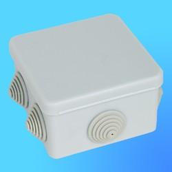 Коробка эл. монтажная ОП С3В87-002 пласт. 80*80*55 без отверстий с 7 муфтами (GUSI)