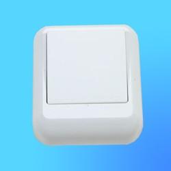 """Выключатель 1 ОП А16-051М,с металл.монтажной пластиной, белый, """"Прима"""" (Wessen)"""